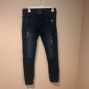 """Express Mid Rise """"Legging"""" Jeans"""